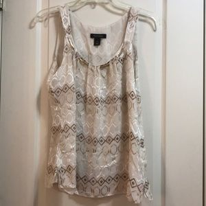 White House black Market beige blouse size S
